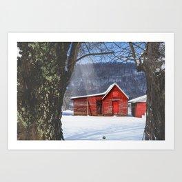 Little Red House Art Print