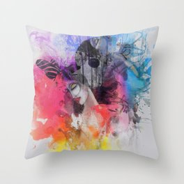 black butterflies Throw Pillow