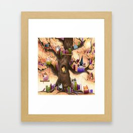 The library in the tree Framed Art Print