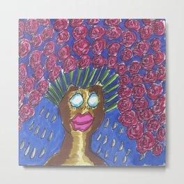 Flower Head Metal Print