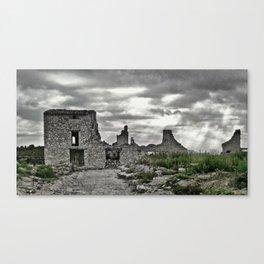 Poble vell de Corbera 3 Canvas Print