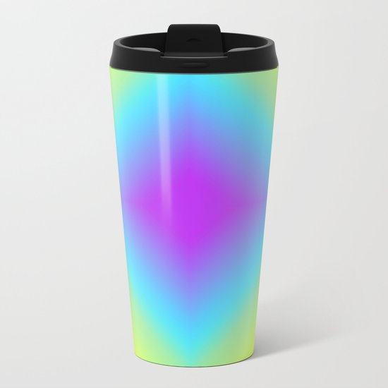 Diamond Rainbow Gradient Metal Travel Mug
