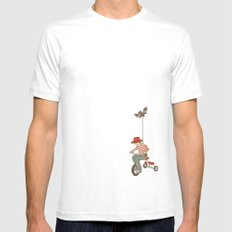 Rainbow Mens Fitted Tee SMALL White