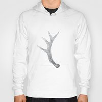 antler Hoodies featuring Stag Antler by LucifersCage