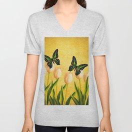 In the Butterfly Garden Unisex V-Neck
