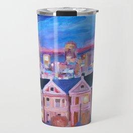 San Francisco - Painted Ladies - Alamo Sq Travel Mug