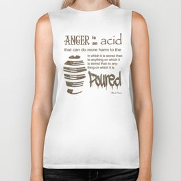 Twain on Anger - bordered Biker Tank