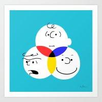 Charlie Brown, colour wheel Art Print