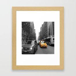 NY´s cab Framed Art Print