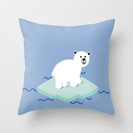 Snow Buddy Throw Pillow