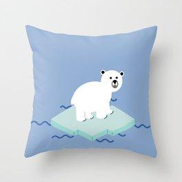 Snow Buddy Throw Pillow