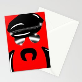 Gay Clone on Red Stationery Cards