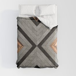 Urban Tribal Pattern No.2 - Concrete and Wood Comforters