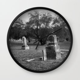 Headstones In City Cemetery Wall Clock