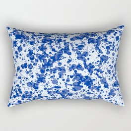 blue splatter Rectangular Pillow