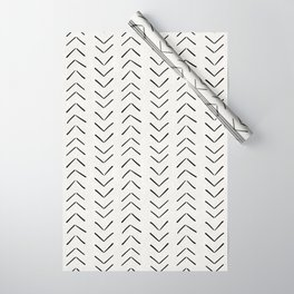 Mud Cloth Big Arrows in Cream Wrapping Paper