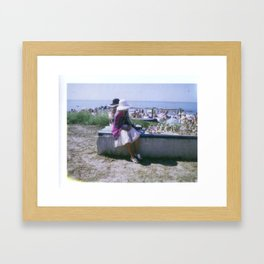 Women Selling Tchatchkes Framed Art Print