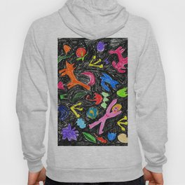 oil pastel pattern Hoody