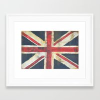 union jack Framed Art Prints featuring Union Jack  by melissa lyons