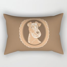 Irish Terrier Printmaking Art Rectangular Pillow