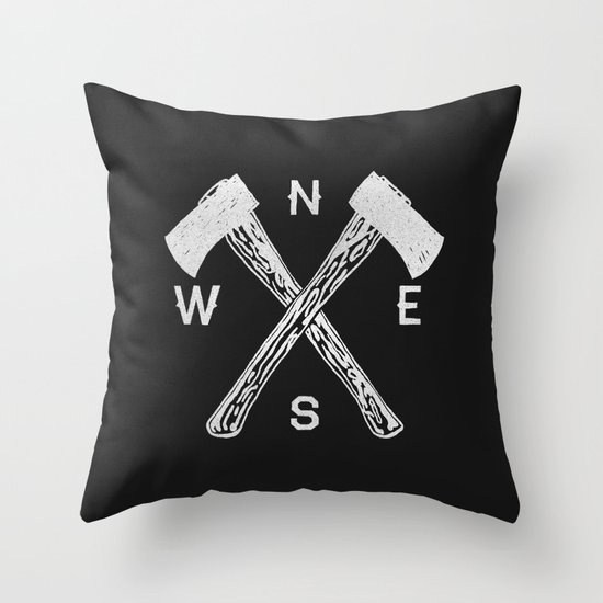 Compass 2 Throw Pillow