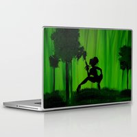 astrology Laptop & iPad Skins featuring The Astrology  sign Sagittarius by Krista May