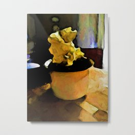 Still Life with Leaning Ice Cream of Gold Metal Print