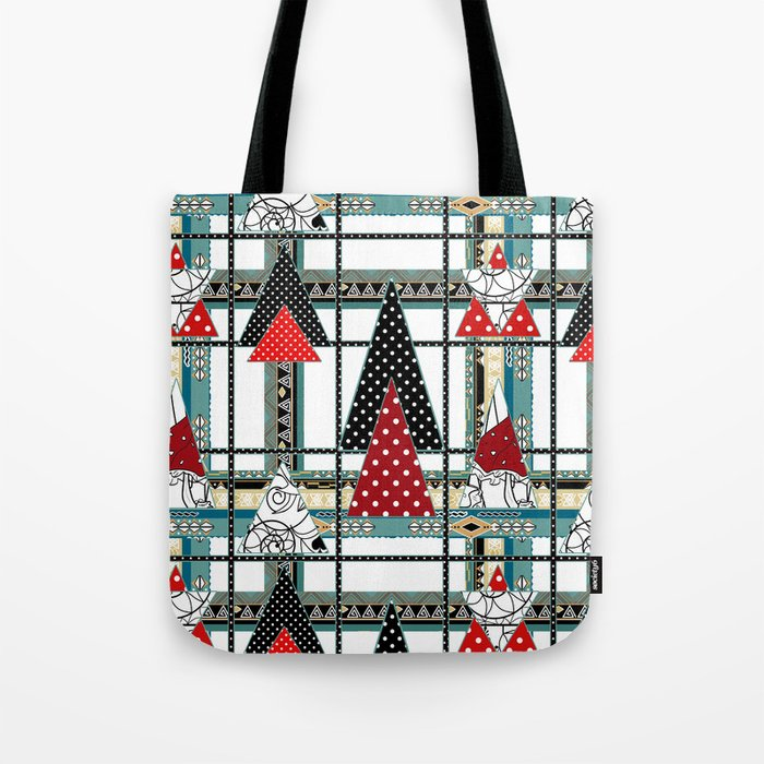 Art. Morning Fantasies . Patchwork Tote Bag