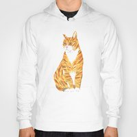 ginger Hoodies featuring Ginger cat by Madi