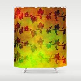 Harvest Time Vines Design Shower Curtain