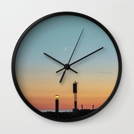 Vintage Sunset Wall Clock