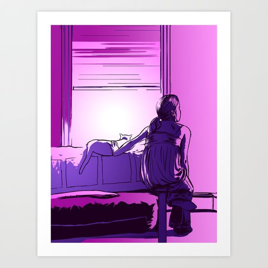 The Violet Hour Art Print