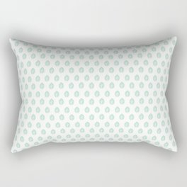Minty Leaves Rectangular Pillow
