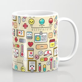 """Proud To Be A Nurse"" Pattern Coffee Mug"