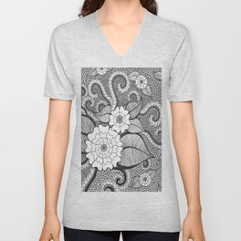 Octopus Flower Unisex V-Neck