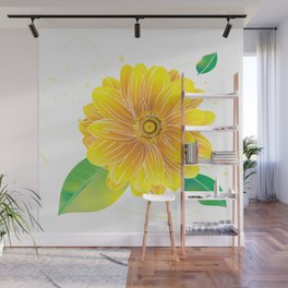 Helianthus - The Color of Vitality, Intelligence and Happiness Wall Mural