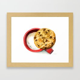 Cookie and milk Framed Art Print