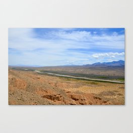 out west wildlife landscape photography orange and blue ground and sky nature Canvas Print