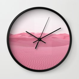 Pink Dunes Wall Clock