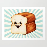 bread Art Prints featuring Bread by Kelly Gilleran