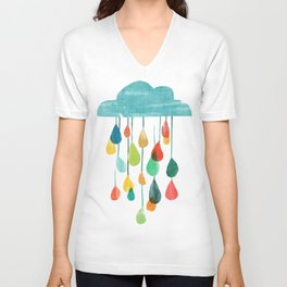cloudy with a chance of rainbow Unisex V-Ausschnitt