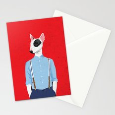 Skinhead Bull Terrier Stationery Cards