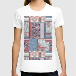 Woodblock Patchwork T-shirt