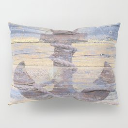Rusty Anchor Grey Blue Beach Lake House Coastal Home Decor A177 Pillow Sham