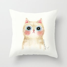 Cognac the Cat Throw Pillow