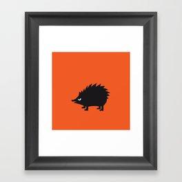Angry Animals: hedgehog Framed Art Print