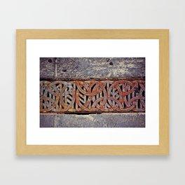 Curve & Rust Framed Art Print