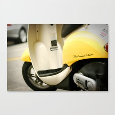 Bright Yellow Metropolitan Moped Canvas Print