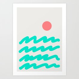 Abstract Landscape 08 Art Print