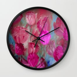 Breaking Dawn in Shades of Red and Pink Wall Clock